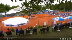 Stimmung Tenniscourts und Tennisfans beim Jugendcup